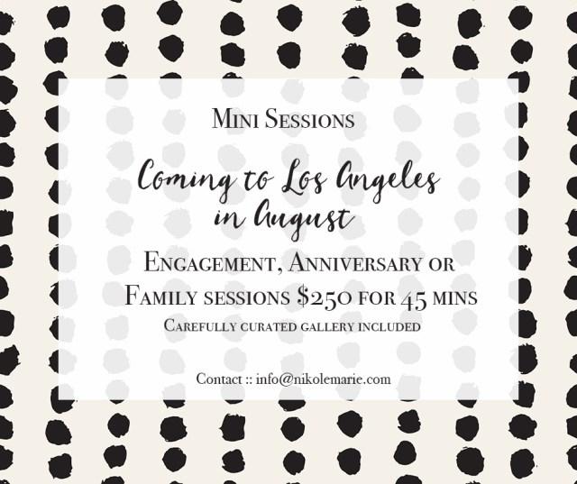 Mini Sessions In LA & Orange County