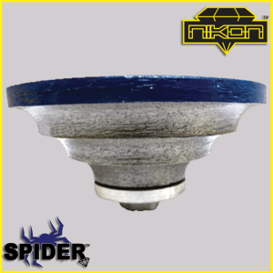 The Spider Triple Waterfall Profile Wheel for shaping granite, and other natural stones