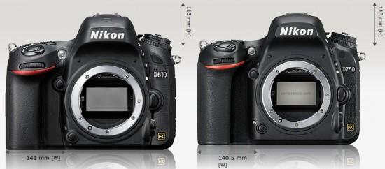 Nikon-D610-vs-D750-size-comparison
