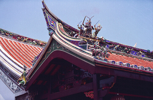 Corners of the Chinese temples