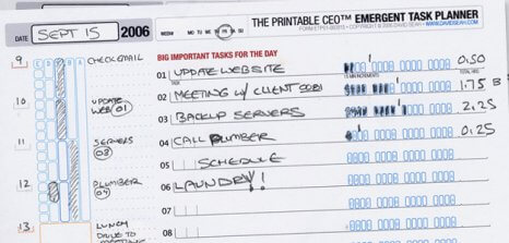 Tidy up your life with David's Printable CEO Series