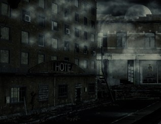 ruin stock city night