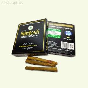 Сигареты без никотина Nirdosh Herbal Dhoompan без фильтра