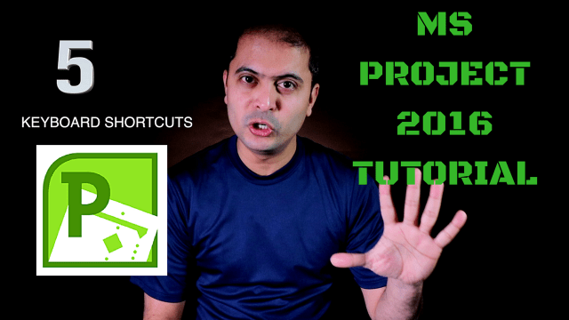 5 Useful Keyboard Shortcut for MS Project 2016