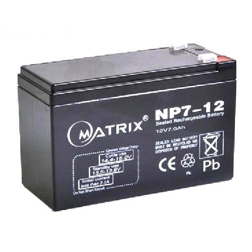 12V 7A Sealed Pb-acid Battery (Matrix)