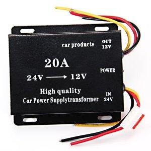 20A 24V DC to 12V DC Car Power Converter Supply
