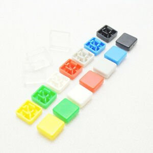 Plastic Switch Caps for Tactile Switch (Micro Button Knob) - Square Type (9mmx9mm)