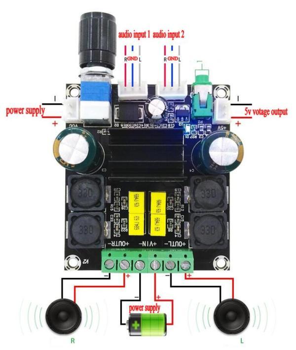 Stereo  50W x 2 Class D High Power Digital Audio Music Amplifier Board TPA3116 D2