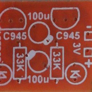 Multi-vibrator (2 LED ) PCB / Robo Circuit PCB (3VDC)