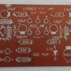 Stereo MIC Amplifier PCB (12VDC)
