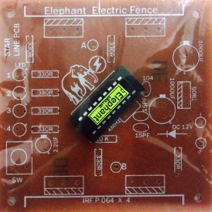 Elephant Electric Fence with Programme IC