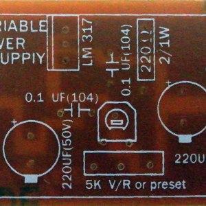 DC Variable Power Supply PCB (1.2V to 30V)