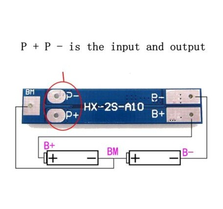 2S 8A 7.4V 8.4V PCM BMS 18650 polymer lithium li-ion battery charger protection board circuit module