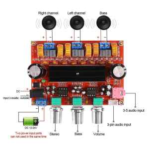 TPA3116D2 2x50W + 100W 2.1 Digital Class D Subwoofer Amplifier Board DC12V-24V (XH-M139)