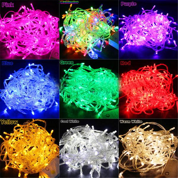 100 LED 10M Outdoor Vesak Christmas Decorative Light String (Red/Green/Blue/Purple/White/RGB)