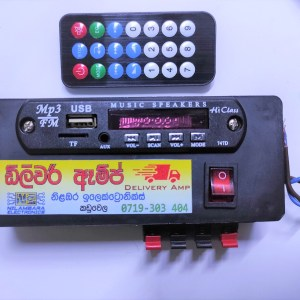 Delivery Sales Amp DC 12V/24V and Remote with Memory Card