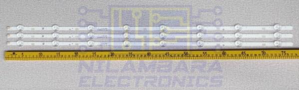 SAMSUNG 40 8LED Back Light Strips 3Pcs Set (40J5200, 40J51xx)
