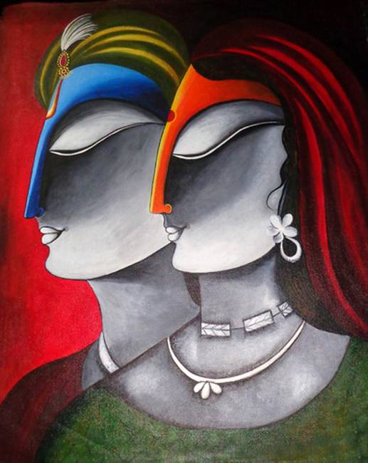Radha Krishna Modern Art A Mythology Blog