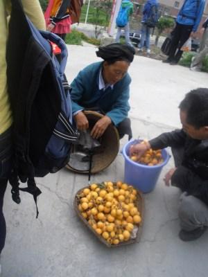 A Chinese Tibetan woman