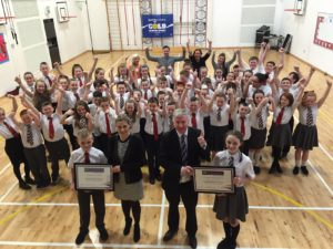 Cambuslang schools worked together to become 'Champions for Change' and were acknowledged in the Scottish Parliament