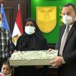 تكريم أسر شهداء القطاع الطبي بالمستشفيات الجامعية بمناسبة عيد الفطر المبارك