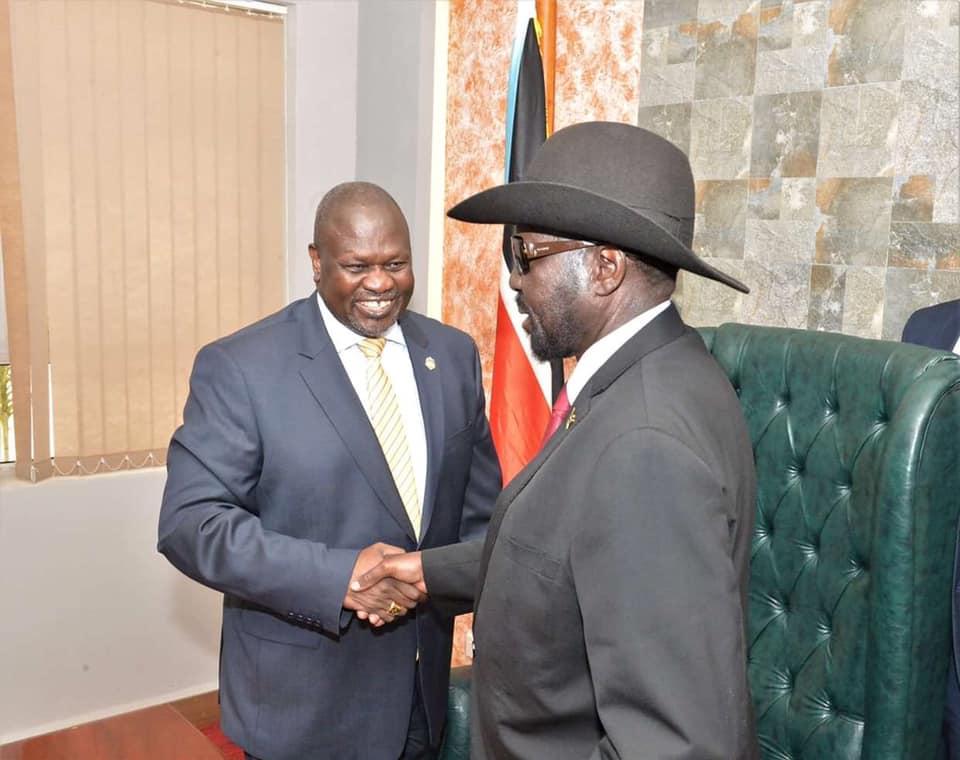 Salva Kiir meets Machar