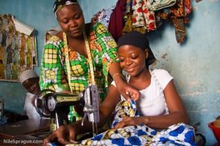 Adjo Polignim, 16, tailoring, LomŽ, Togo. Photo © Nile Sprague