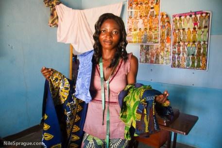 Florence Paloki, 20, tailoring, LomŽ, Togo. Photo © Nile Sprague