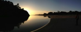 Photos: Panoramas of Big River at sunset, Mendocino, California