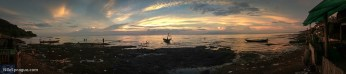 Sunrise from the crab market in Kep, Kampot