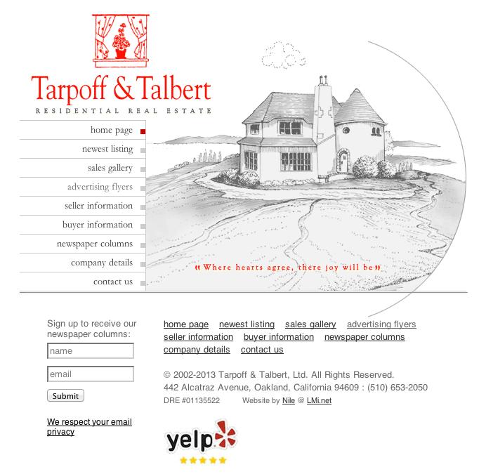 New Website: tarpoffandtalbert.com