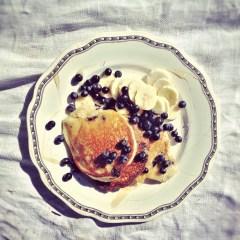 Amerikanska Pannkakor med mandelmjöl