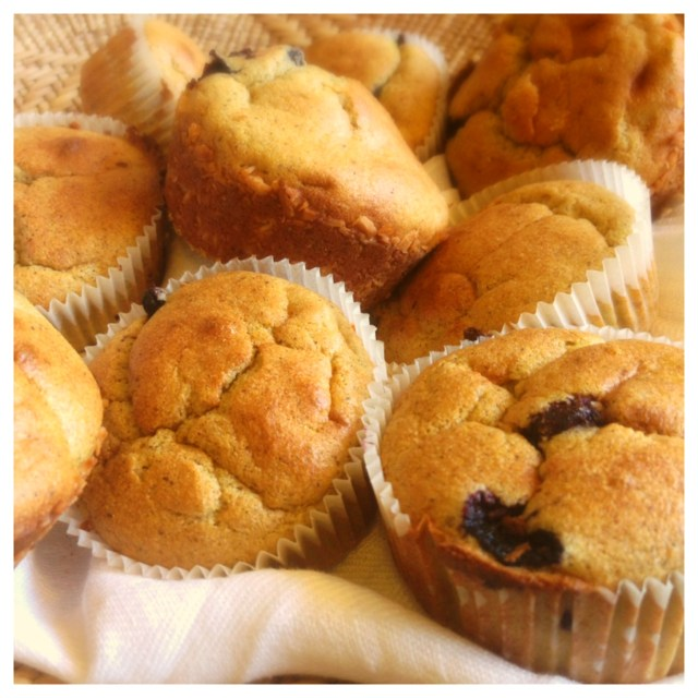 Hälsosamma bananmuffins med blåbär och bovete (gluten, mjölk och sockerfria) 2