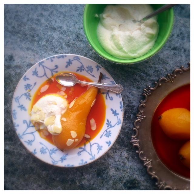 saffranspäron med cashewgrädde sockerfritt1