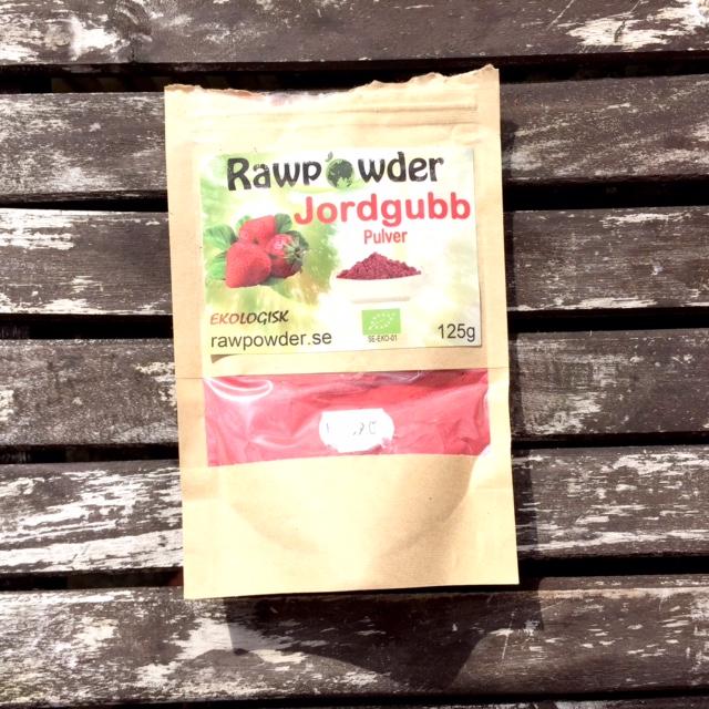 jordgubbspulver raw