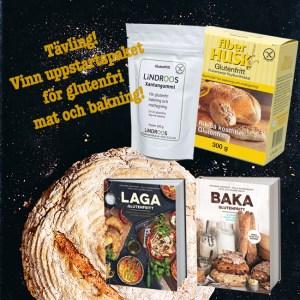 Tävling glutenfritt uppstartpaket baka glutenfritt laga glutenfritt