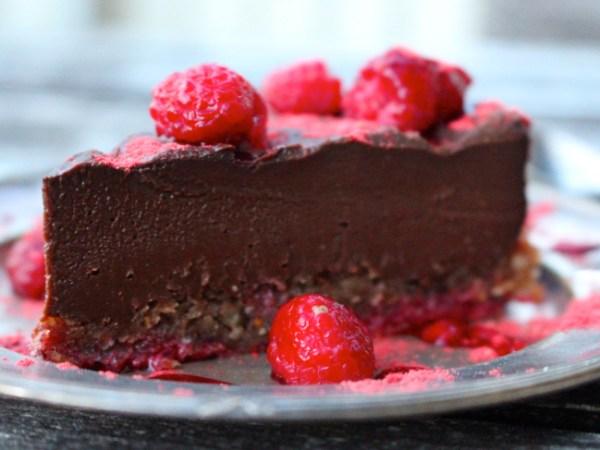 raw truffle chocolate cake
