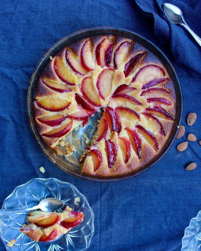 plommonkaka med mandel naturligt glutenfri