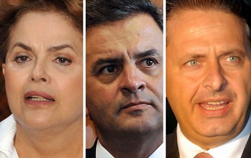 Dilma conta com 31,6% dos votos, ante 32,2% das intenções de voto na pesquisa anterior. Já Aécio tem 21,1%, leve queda ante 21,5% no levantamento realizado em junho. Eduardo Campos (PSB), por sua vez, também teve leve queda, de 7,5% para 7,2%