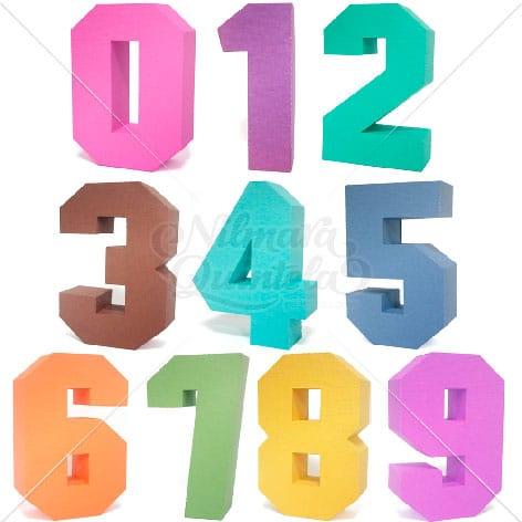 Pacote - Números Quadrados 3D