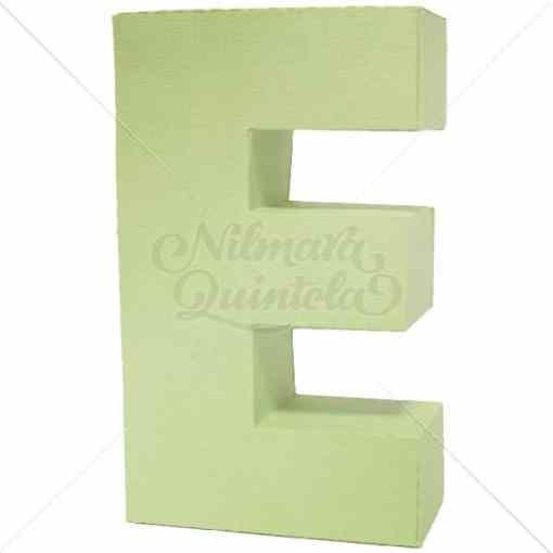 Letra Quadrada 3D E