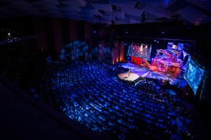 """god shot"" view of Nilofer Merchant speaking at TED2013"