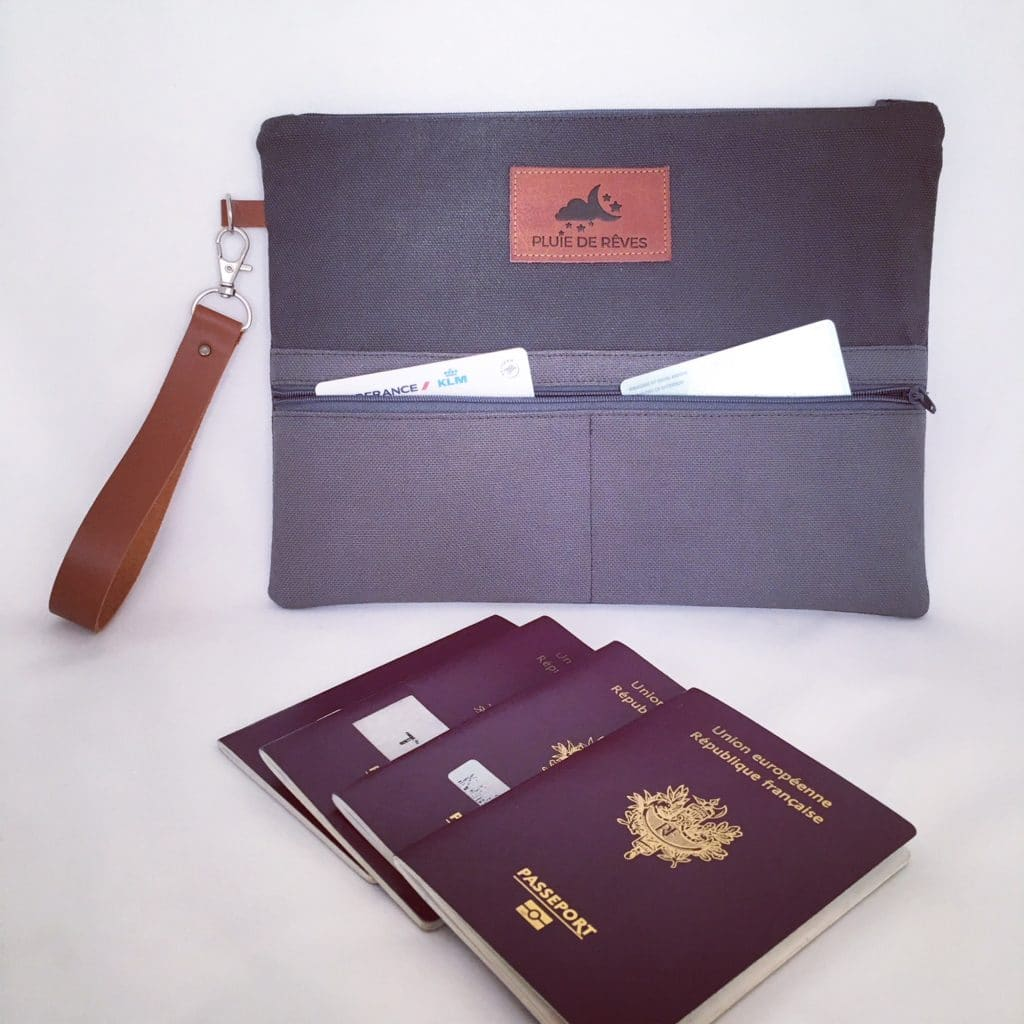 personalised passport pouch by nils & emi