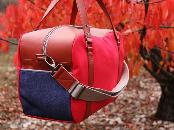 Nils & Emi sac baroudeur chic rouge made in france sac cabine