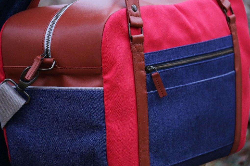 Nils & Emi sac baroudeur chic rouge made in france sac cabine