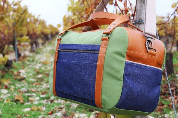 Nils & Emi sac baroudeur chic vert sac cabine made in france