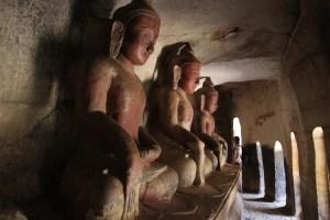 aux alentours de Monywa, grottes de Po Win Dong