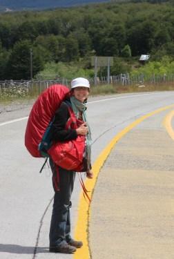 un sac à dos en Patagonie