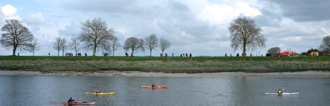 le long du canal de St Valery sur Somme en baie de Somme