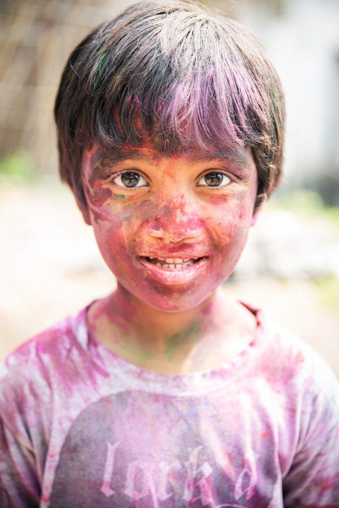 Farben Gesicht Holi